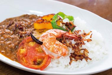 濃厚海老風味 季節の野菜カレー