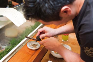 海鮮とトリュフの旨塩ばらちらし丼 開発風景4